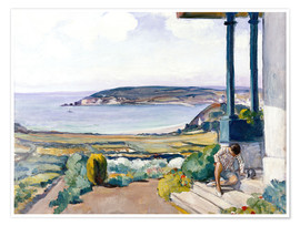 Póster  The Garden on the Morgat Bay - Henri Lebasque