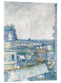 Cuadro de metacrilato  View from the Artist's Window, Rue Lapic - Vincent van Gogh