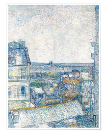 Póster  View from the Artist's Window, Rue Lapic - Vincent van Gogh