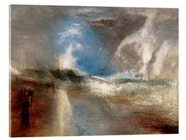 Cuadro de metacrilato  Rockets and blue lights warn steamboats before shallows - Joseph Mallord William Turner