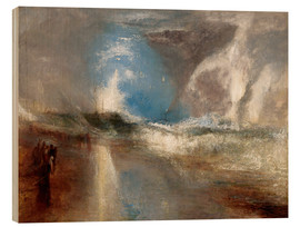 Cuadro de madera  Rockets and blue lights warn steamboats before shallows - Joseph Mallord William Turner