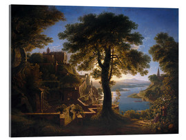 Cuadro de metacrilato  Castle on the River - Karl Friedrich Schinkel