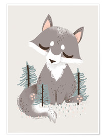 Póster Animal Friends - The Wolf