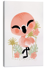Lienzo  Animal Friends - The Flamingo - Kanzi Lue