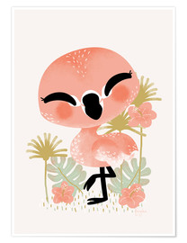 Póster Animal Friends - The Flamingo