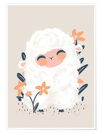 Póster  Animal Friends - The sheep - Kanzi Lue