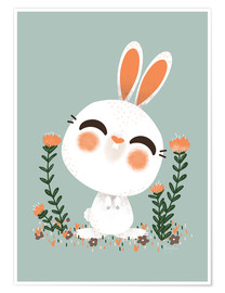 Póster  Animal Friends - The hare - Kanzi Lue
