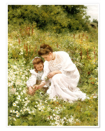 Póster  When picking daisies - Hermann Seeger