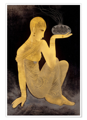 Póster Perfume girl with a censer