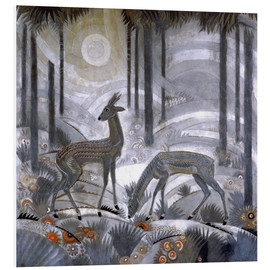 Forex  Two deer in the woods - Jean Dunand