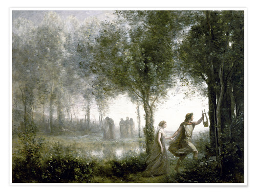 Póster Orpheus leads Eurydice from the underworld