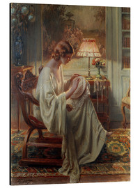 Cuadro de aluminio  A Lady Sewing in an Interior - Delphin Enjolras