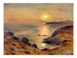 Póster  The Setting of the Sun at Douarnenez - Pierre-Auguste Renoir