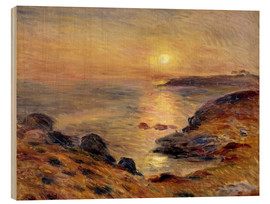 Cuadro de madera  The Setting of the Sun at Douarnenez - Pierre-Auguste Renoir