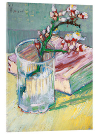 Metacrilato  Flowering almond branch in a glass with a book - Vincent van Gogh
