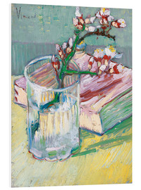 Forex  Flowering almond branch in a glass with a book - Vincent van Gogh