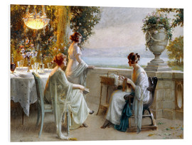 Cuadro de PVC  A Soiree on the Terrace - Delphin Enjolras