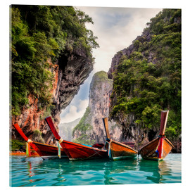Cuadro de metacrilato  Railay beach in Krabi Thailand
