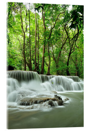 Cuadro de metacrilato  Waterfall in forest of Thailand