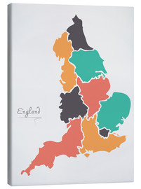 Lienzo  England map modern abstract with round shapes - Ingo Menhard