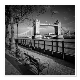 Póster  LONDON Tower Bridge - Melanie Viola