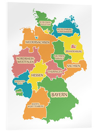 Ingo Menhard - Germany map with labels for learning children