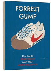 Madera  alternative forrest gump sneakers art - 2ToastDesign