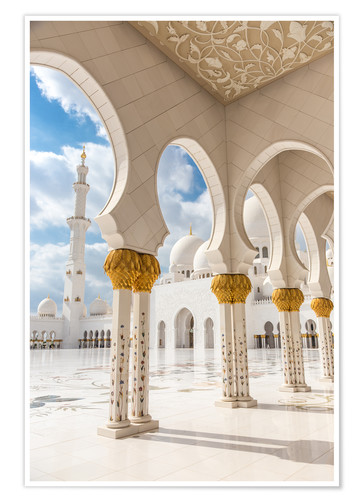 Póster View of Sheikh Zayed Grand Mosque