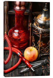 Lienzo  Hookah tobacco with apple