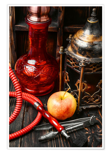 Póster Hookah tobacco with apple