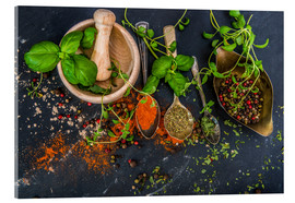 Metacrilato  Mortar with herbs and spice