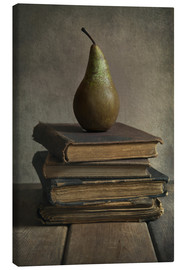 Lienzo  Still life with books and pear - Jaroslaw Blaminsky
