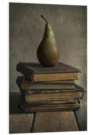Cuadro de PVC  Still life with books and pear - Jaroslaw Blaminsky