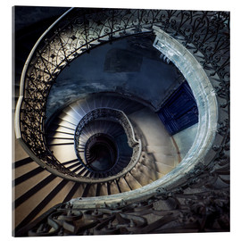 Cuadro de metacrilato  Old beautiful spiral staircase - Jaroslaw Blaminsky