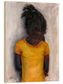 Cuadro de madera  lexa with yellow shirt - Jonathan Guy-Gladding