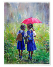Póster  magenta umbrella - Jonathan Guy-Gladding