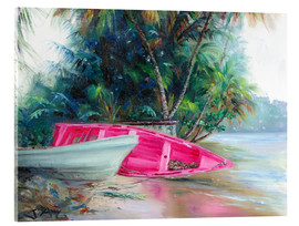 Cuadro de metacrilato  pink boat on side - Jonathan Guy-Gladding