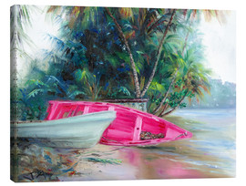 Lienzo  pink boat on side - Jonathan Guy-Gladding