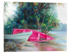 Cuadro de PVC  pink boat on side - Jonathan Guy-Gladding