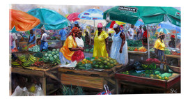 Cuadro de metacrilato  castries market - Jonathan Guy-Gladding