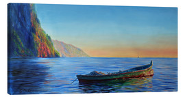 Lienzo  base of petit piton with gommier boat - Jonathan Guy-Gladding