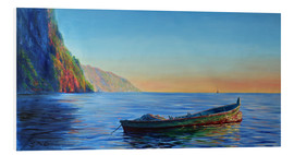 Cuadro de PVC  base of petit piton with gommier boat - Jonathan Guy-Gladding