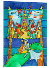 Cuadro de metacrilato  Knights Dragon and the Knight's Castle - Atelier BuntePunkt