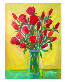 Póster Red roses III