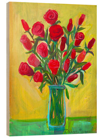 Madera  Red roses III - Diego Manuel Rodriguez