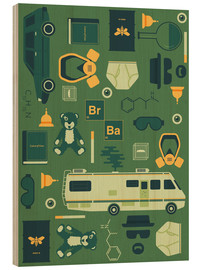 Cuadro de madera  Breaking Bad - Tracie Andrews