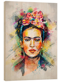 Cuadro de madera  Frida Flower Pop - Tracie Andrews