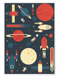 Póster  Space Odyssey - Tracie Andrews