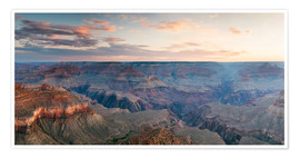 Póster  Panoramic sunrise of Grand Canyon, Arizona, USA - Matteo Colombo