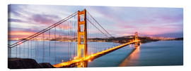 Lienzo  Panoramic of Golden gate bridge, San Francisco, USA - Matteo Colombo